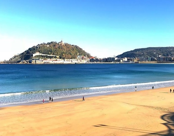 La Concha Beach Paesi Baschi Spagna