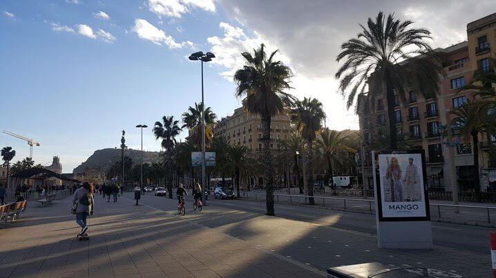 Le ramblas Barcellona