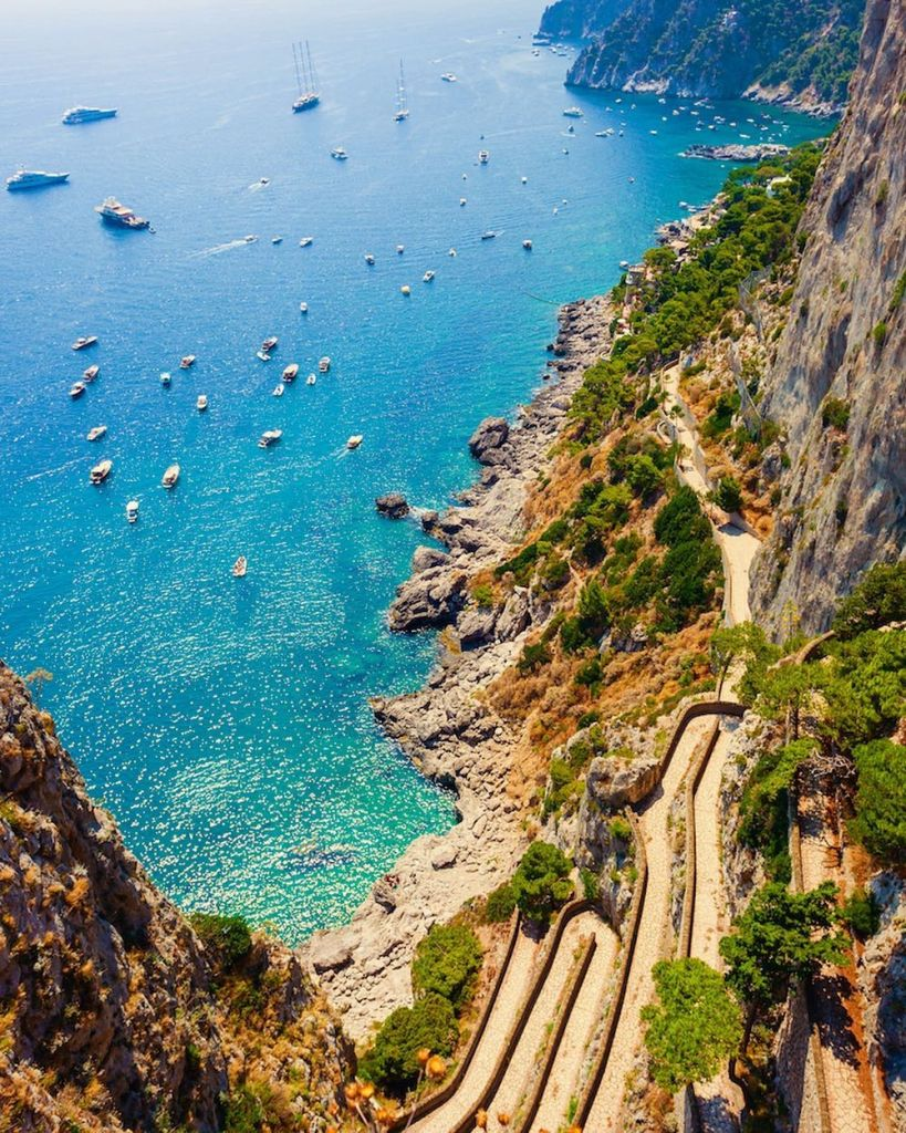 Marina Piccola Capri vista dai Giardini di Augusto