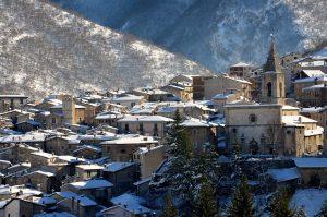 Borgo di Scanno in Inverno