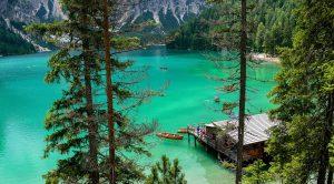 Paesaggio del Lago di Braies
